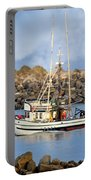 Newport Oregon - Coastal Fishing Portable Battery Charger