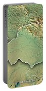 Niederbayern Regierungsbezirk Bayern 3d Render Topographic Map B Portable Battery Charger
