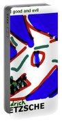 Nietzsche Poster Portable Battery Charger