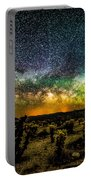 Night At Cholla Cactus Garden Portable Battery Charger