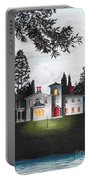 Italian House Country House Detail From Night Bridge  Portable Battery Charger