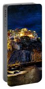 Night Comes To Manarola - Vintage Version Portable Battery Charger