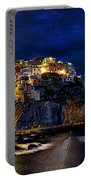Night Comes To Manarola Portable Battery Charger