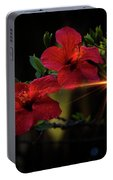Night Hibiscus Portable Battery Charger