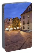 Night In City Of Jelenia Gora In Poland Portable Battery Charger