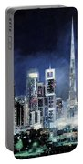 night in Dubai City Portable Battery Charger