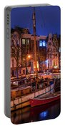 Night Lights On The Amsterdam Canals 7. Holland Portable Battery Charger