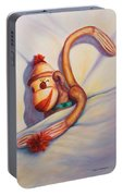 Night Night Sock Monkey Portable Battery Charger