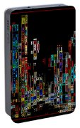 Night On The Town - Digital Art Portable Battery Charger