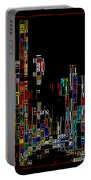 Night On The Town - Digital Art Portable Battery Charger by Carol Groenen