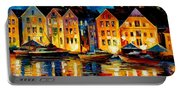 Night Resting Original Oil Painting  Portable Battery Charger
