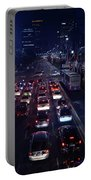 Night Skyline Of Jakarta Indonesia 2 Portable Battery Charger
