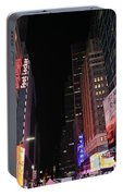 Night Time At Times Square Portable Battery Charger
