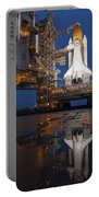 Night View Of Space Shuttle Atlantis Portable Battery Charger by Stocktrek Images