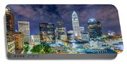 Night View Scenes Around Charlotte North Carolina Portable Battery Charger