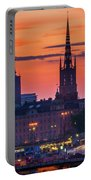 Nightsky Over Stockholm Portable Battery Charger