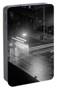 Nighttime Street Scene With Traffic Portable Battery Charger