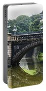 Nijubashi Bridge At Imperial Palace Portable Battery Charger