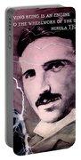 Nikola Tesla - Quote Portable Battery Charger
