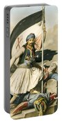 Nikolakis Mitropoulos Raises The Flag With The Cross At Salona On Easter Day 1821 Portable Battery Charger