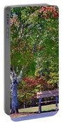 Ninety Six National Historic Site Bench In Autumn  Portable Battery Charger