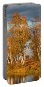 Crex Meadows At Sunset Portable Battery Charger