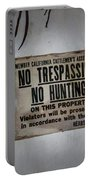 No Trespassing Portable Battery Charger
