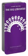 No010 My Big Lebowski Minimal Movie Poster Portable Battery Charger