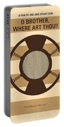 No055 My O Brother Where Art Thou Minimal Movie Poster Portable Battery Charger