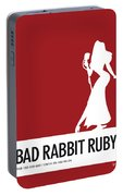 No14 My Minimal Color Code Poster Jessica Rabbit Portable Battery Charger