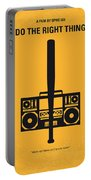 No179 My Do The Right Thing Minimal Movie Poster Portable Battery Charger