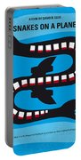No501 My Snakes On A Plane Minimal Movie Poster Portable Battery Charger
