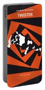 No560 My Twister Minimal Movie Poster Portable Battery Charger