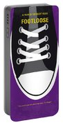No610 My Footloose Minimal Movie Poster Portable Battery Charger