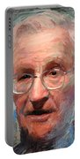 Noam Chomsky Portrait 1059 Portable Battery Charger