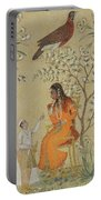 Noble Woman In A Garden Portable Battery Charger