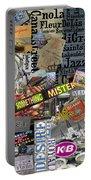 Nola Collage Art Shotgun House Portable Battery Charger