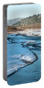 Nooksack River On A December Afternoon Portable Battery Charger