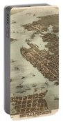 Norfolk And Portsmouth Map Portable Battery Charger