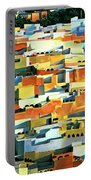 North African Townscape Portable Battery Charger by Robert Tyndall