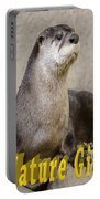 North American Otter Nature Girl Portable Battery Charger