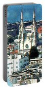 North Beach San Francisco - Watercolor Portable Battery Charger