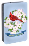 North Carolina State Bird And Flower Portable Battery Charger