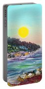 North With Yellow Sun Portable Battery Charger