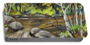 Northerm Stream Woodland Created By Richard T Pranke Portable Battery Charger