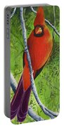 Northern Cardinal 1 Portable Battery Charger