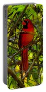 Northern Cardinal Work Number Two Portable Battery Charger