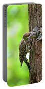 Northern Flicker Family Portable Battery Charger