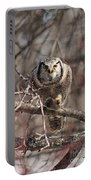 Northern Hawk Owl Having Lunch 9417 Portable Battery Charger