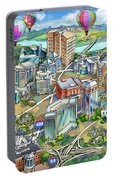 Northern Virginia Map Illustration Portable Battery Charger